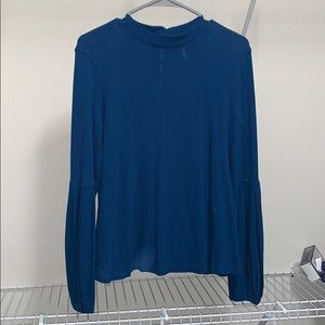 Free people blue high neck top